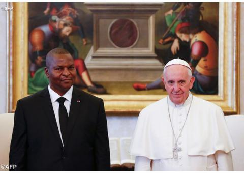 Папа прийняв Президента Центральної Африканської Республіки
