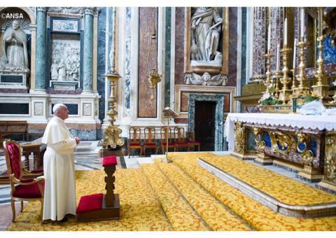 Папа Франциск відвідав базиліку Santa Maria Maggiore