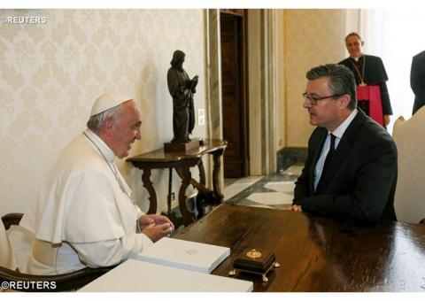 Папа Франциск прийняв Прем'єр-міністра Хорватії