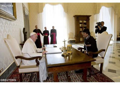 Папа Франциск прийняв Президента Болівії