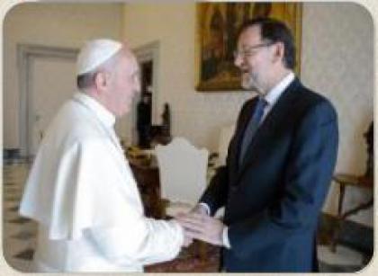 Папа зустрівся з головою уряду Іспанії