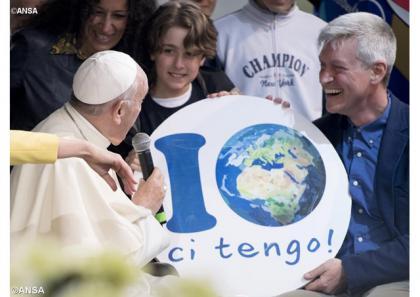 Папа Франциск у «Містечку Землі» в Римі: перетворіть пустелю в ліс