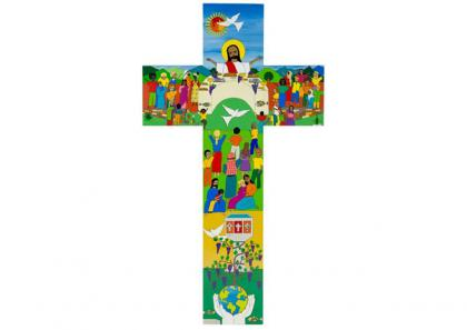 Логотип візиту Папи Франциска до Швеції – Христос у центрі всього